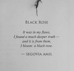 It was in my flaws, I found a much deeper truth - Segovia Amil