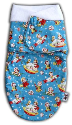 Retro Rockets Swaddle Wrap for Babies Super by thepatacakebaby, $39.99