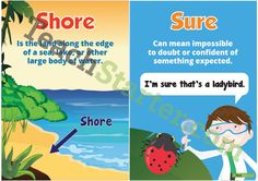 Sure & Shore Homophone Poster Teaching Resource