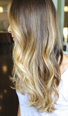 Great transition for blonde girls into fall color