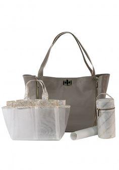 b70cb9aa1598 Rosie Pope The Sloane Tote Diaper Bag - Neutral White