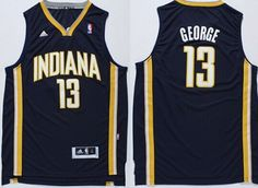 Indiana Pacers #13 Paul George Revolution 30 Swingman Navy Blue Jersey