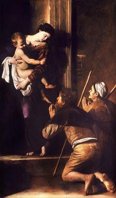 """Michelangelo Merisi """"Caravaggio"""" - Madonna dei Pellegrini o di Loreto, 1606. Large HD"""
