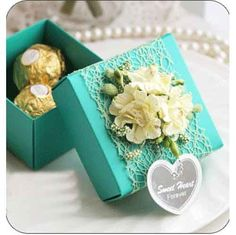 Best value Lace Favor Box – Great deals on Lace Favor Box from global Lace Favor Box sellers on AliExpress Wedding Candy Boxes, Wedding Favours, Party Favors, Wedding Gifts, Lace Weddings, Wedding Lace, Chocolate Wrapping, Gift Wraping, Creative Gift Wrapping