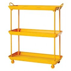 Painted Metal Trolley (yellow)
