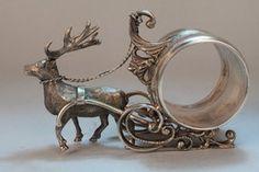 ~ Beautiful ~ Reindeer Napkin Holder....Circa?....