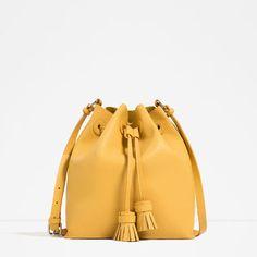 ZARA - WOMAN - TASSELED BUCKET BAG