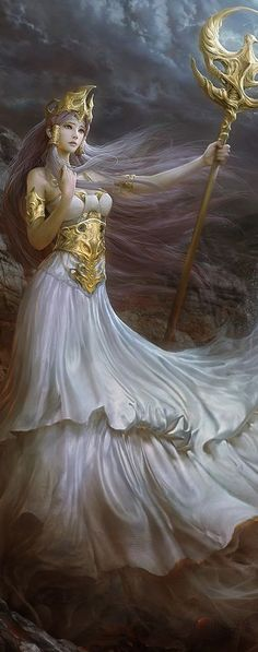 Athena or Athene, often given the epithet Pallas, is an ancient Greek goddess associated with wisdom, handicraft, and warfare 3d Fantasy, Fantasy Women, Fantasy Artwork, Fantasy Warrior, Final Fantasy, Anime Saint, Character Inspiration, Character Art, Character Design