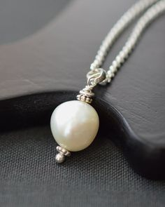 Baroque Pearl Pendant / Pearl Beaded Pendant / by BlueRoomGems