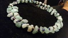Check out this item in my Etsy shop https://www.etsy.com/listing/222053234/memory-wire-jade-and-glass-bead-necklace