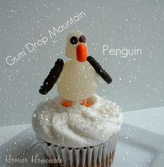 Make your own gum drop penguin cupcake - yum! #macwonderland