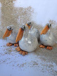 Cerámica raku Pelican