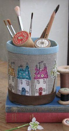 Fabric Pots - Dear Emma Handmade Designs ✿⊱╮Teresa Restegui http://www.pinterest.com/teretegui/✿⊱╮