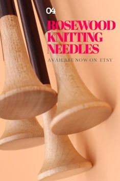 These lovely single-pointed wooden knitting needles are handmade and lovely to knit with. Made with gorgeous rosewood, they warm to your hand offering superior knitting experience. Available on Etsy in various sizes, 30cm long. Wooden Knitting Needles, Knitting Accessories, Warm, Unique Jewelry, Handmade Gifts, Beautiful, Etsy, Kid Craft Gifts, Craft Gifts