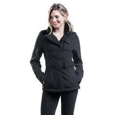 Brandit Giacca Dayton con cappuccio Giacca Giacca Uomo Abbigliamento Nero 100/% COTONE