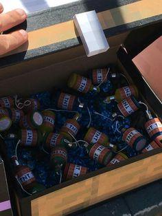 Minecraft birthday party-shoebox chest