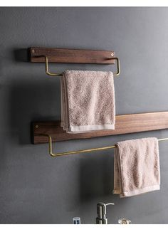 Golf Clubs Repurposed Alma - Wooden Towel Rack - Renew your bathroom with this elegantly fabulous wooden towel rack! Mix and match sizes for best visual effect! Made from eco-friendly wood Towel Holder Bathroom, Bathroom Towels, Bathroom Cabinets, Bathroom Mirrors, Bathroom Cleaning, Shoe Cabinets, Cozy Bathroom, Minimal Bathroom, Marble Bathrooms