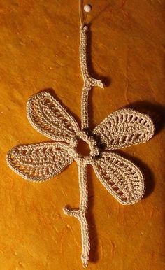Irish Crochet Motif - Escape Flower pattern by Ann Reillet