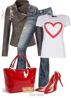 """""""Heart on the top"""" by madamedeveria ❤ liked on Polyvore"""