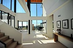 Contemporary home with ocean views