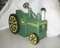 Tractor painted brick patio paver doorstop