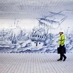 This New Cycle and Pedestrian Tunnel in Amsterdam Features an 80,000 Tile Mural Inspired by Cornelis Boumeester