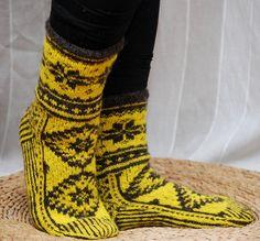 Hand knit socks Estonian pattern by Kampsun on Etsy, $49.90