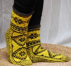 Hand knit socks Estonian