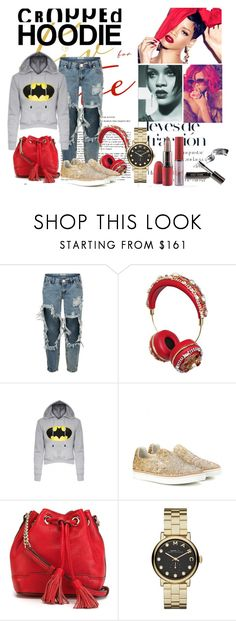 """""""Cute Trend: Cropped Hoodies"""" by paularibic ❤ liked on Polyvore featuring OneTeaspoon, Dolce&Gabbana, Maison Margiela, Rebecca Minkoff, Marc by Marc Jacobs, Bobbi Brown Cosmetics and MAC Cosmetics"""