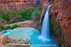 Havasu Falls travel tips http://www.ordinarytraveler.com/tipsarticles/havasu-falls-travel-tips-havasupai-arizona