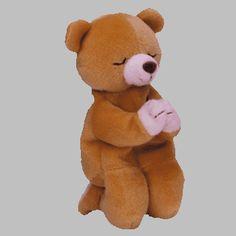 Retired original Ty Beanie Baby Hope the praying bear DOB 3 23 98 Beanie e0b0acc55658