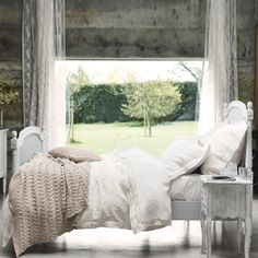 Loire Throw - Natural   The White Company    Visit odiousstyle.blogspot.com for more :)