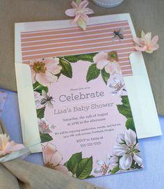 Pretty Pastel Floral Invitations