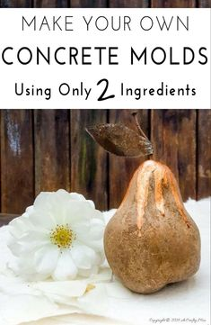 See how to make your own mold using two basic ingredients you probably have at home already. It's easy, fun, reusable and only takes a few minutes Concrete Molds, Concrete Crafts, Concrete Projects, Resin Crafts, Diy Projects, Resin Art, Cement Art, Concrete Art, Concrete Garden