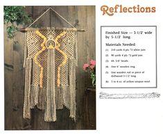 Macrame Wall Hanging Patterns, Macrame Patterns, Hanging Wall Art, Pot Hanger, Wall Hanger, Hangers, Wooden Rings, Pattern Books, This Book