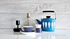 Cathrineholm - Teapot - Stig Lindberg - Adam - Gustavsberg - Coffee cup and creamer - Iittala Nappula - Gold and Black - Like us by clicking on the link :)
