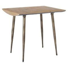 Homeware Cassidy Wormy Pine Accent Table - Silver/Wood
