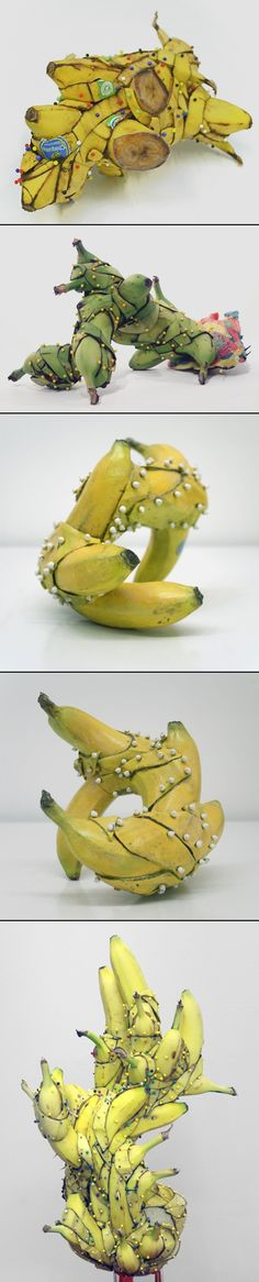 These are the figures of the banana. It is made by the real bananas, but referring these figures might be helpful on drawing the small materials in the drawing of the workplace. Sculpture Art, Sculptures, Banana Art, Indian Artist, Ap Art, Human Art, Art For Art Sake, Installation Art, Traditional Art