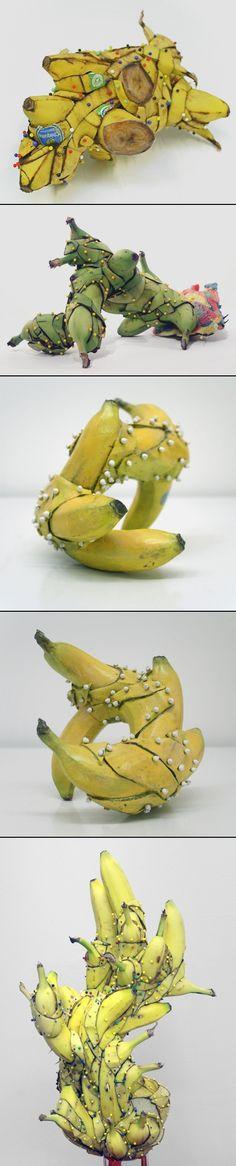 Deconstructed & Contorted Banana Sculptures