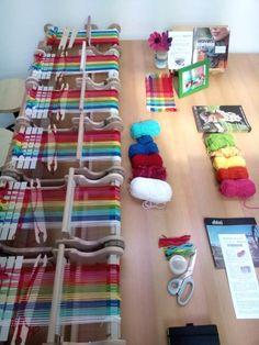 Weefwinkel,   venne garen oa bio katoen en shetlandwol voor mijn sjaal bolletjes van 50gr/270m