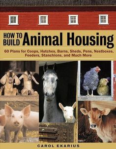 How to Build Animal Housing: 60 Plans for Coops, Hutches, Barns, Sheds, Pens, Nestboxes, Feeders, Stanchions, and Much More by Carol Ekarius. $17.98