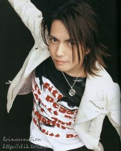 Hideto Takarai- known exclusively by his stage name Hyde (Hide), is a Japanese musician, singer-songwriter, record producer and actor. He is best known as vocalist for the rock band L'Arc-en-Ciel, as well as for Vamps. One of my favs. Miyavi, Gackt, Cute Actors, Visual Kei, Record Producer, Beautiful Men, Gorgeous Guys, Actors & Actresses, Drums
