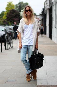 Zara oversized knit and boyfriend jeans, H & M t-shirt, Isabel Marant Bobby sneakers