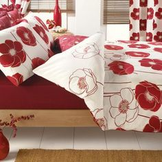 Red Poppy Collection Duvet Cover Set | Dunelm Mill
