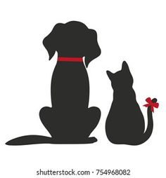 Cow Cartoon Images, Cat And Dog Tattoo, Logo Animal, Shapes Images, Cat Tattoo Designs, Easy Canvas Art, Pottery Painting Designs, Dog Silhouette, Cat Drawing