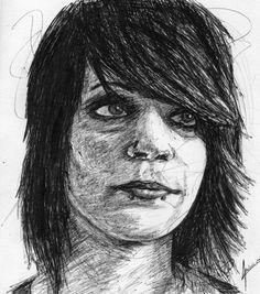 Renee Pheonix . #draw #drawing #dibujo #dibujando #sketch #boligrafo #pen #pluma #rayas #damage #fitforrivals #reneephoenix #art #andresem #retrato #boli #ilustration #ilustracion #garabato