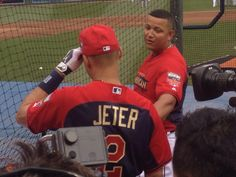 during BP before the 2014 MLB All-Star Game pregame show (7/15/14)