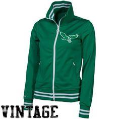 Mitchell & Ness Philadelphia Eagles Ladies Green Vintage Full Zip Track Jacket