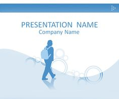Student Silhouette PowerPoint Template