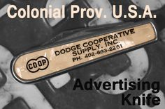 "Colonial Prov. U.S.A. ""Dodge"" Advertising Pocket Knife"
